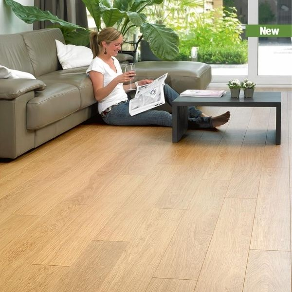 Classic Oak White Varnished Timber Look Flooring