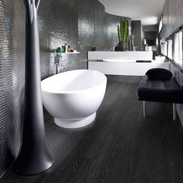 Jet Black Ash Timber Look Flooring