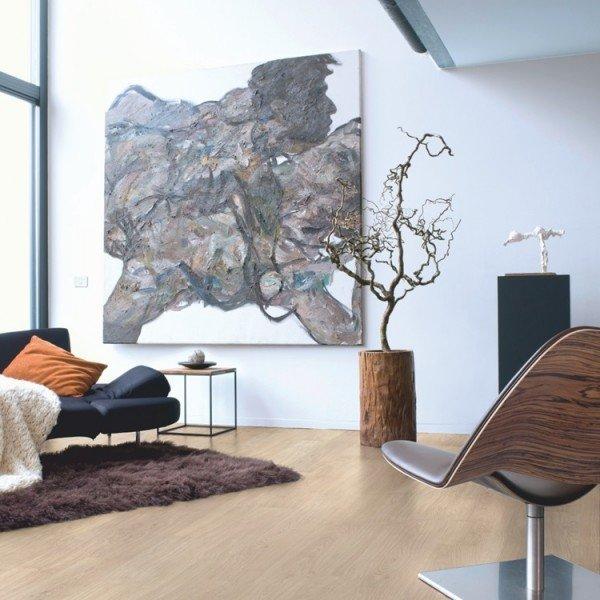 Light Grey Varnished Oak Timber Look Flooring