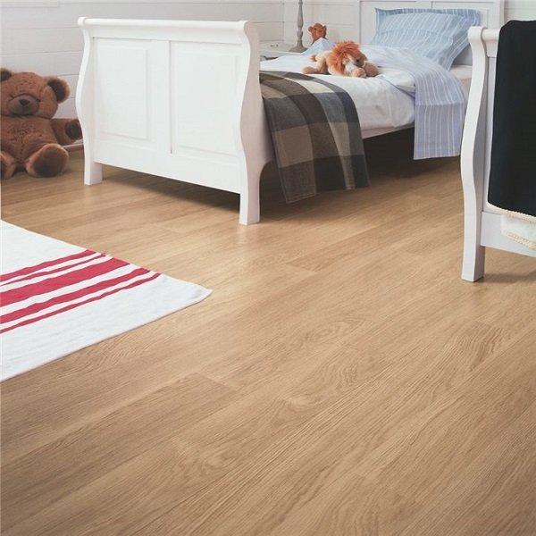 White Varnished Oak Timber Look Flooring